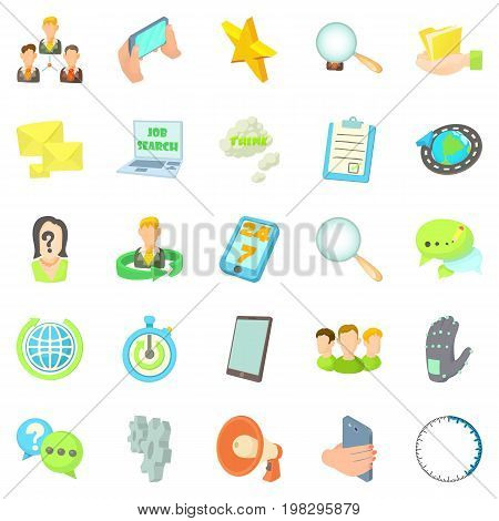 Buzz icons set. Cartoon set of 25 buzz vector icons for web isolated on white background