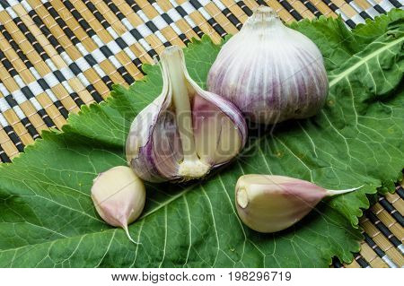 Garlic And Horseradish On A Napkin