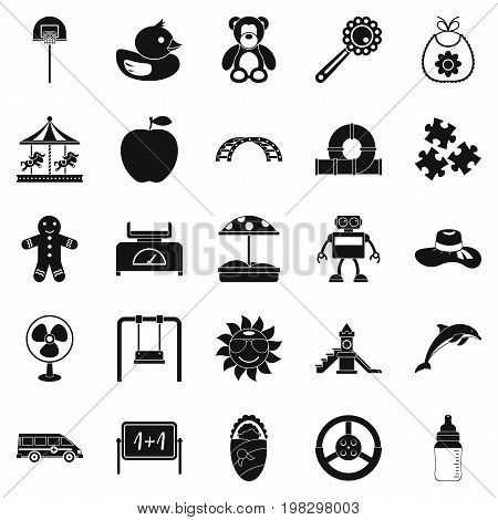 Children spontaneity icons set. Simple set of 25 children spontaneity vector icons for web isolated on white background