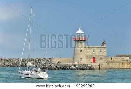 Bailey Lighthouse Howth in Dublin Ireland, in summer time