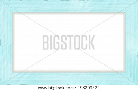 Sky Blue Weathered Wood Photo Painting Picture Frame