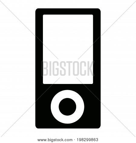 portable music player device button display icon image vector illustration