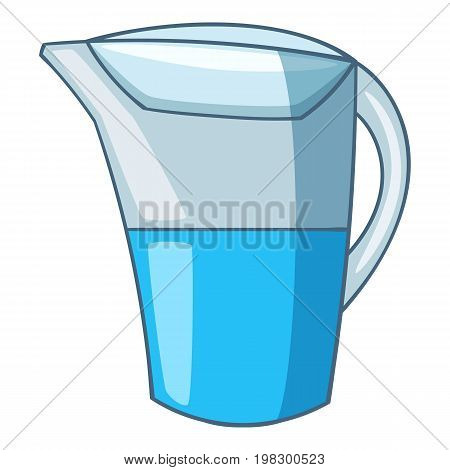 Water hand filter icon. Cartoon illustration of water hand filter vector icon for web design