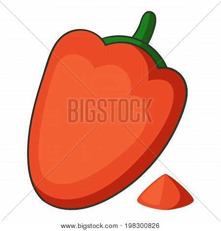 Paprika icon. Cartoon illustration of paprika vector icon for web design