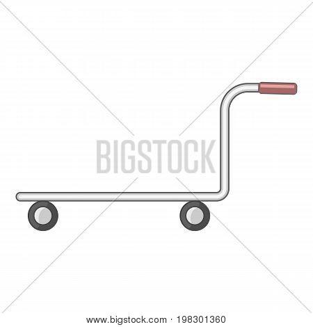 Cargo cart icon. Cartoon illustration of cargo cart vector icon for web design