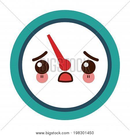 kawaii tachometer speedometer and indicator measurement symbol vector illustration