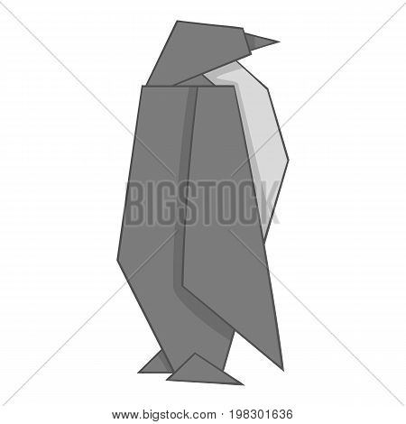 Origami penguin icon. Cartoon illustration of origami penguin vector icon for web design