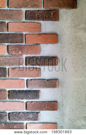 Decorative Bricks At The End Of A Wall