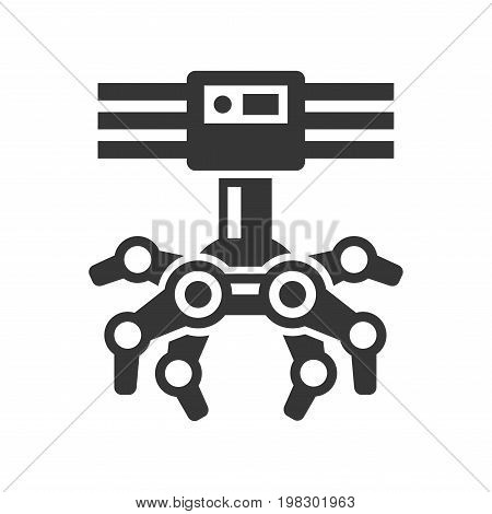 Robotic Claw Machine Icon on White Background. Vector illustration