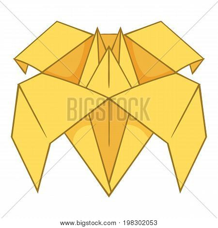 Origami lily icon. Cartoon illustration of origami lily vector icon for web design