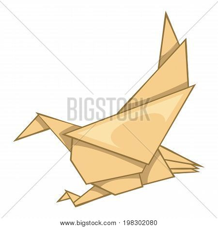 Eagle origami icon. Cartoon illustration of eagle origami vector icon for web design