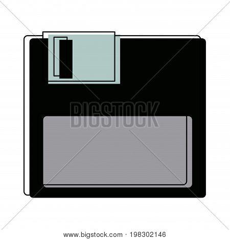 floppy disk data device storage backup element vector illustration