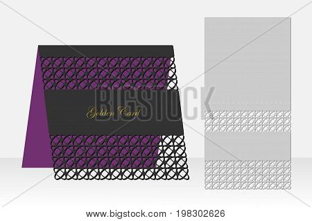 Card with geometric pattern for laser cutting. Silhouette design. It is possible to use for birthday invitations, presentations, greetings, holidays, celebrations, save the day wedding. Vector illustration.