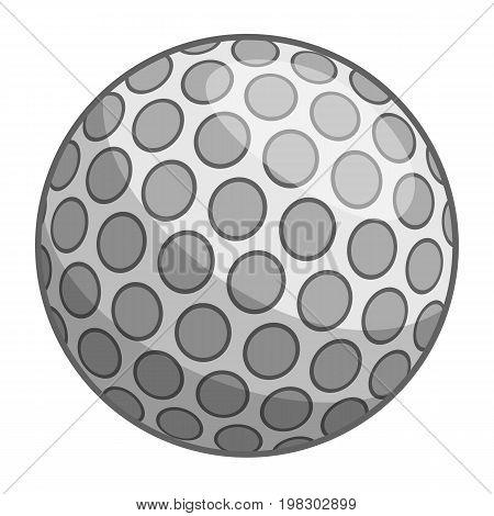 Golf ball icon. Cartoon illustration of golf ball vector icon for web design