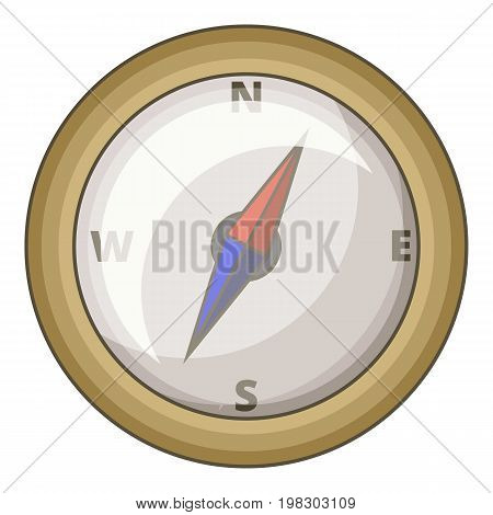 Compass icon. Cartoon illustration of compass vector icon for web design
