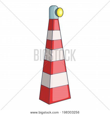 Lighthouse icon. Cartoon illustration of lighthouse vector icon for web design