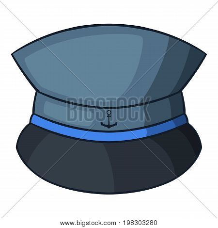 Captain hat icon. Cartoon illustration of captain hat vector icon for web design
