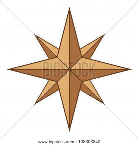 Ancient sign of wind rose icon. Cartoon illustration of ancient sign of wind rose vector icon for web design