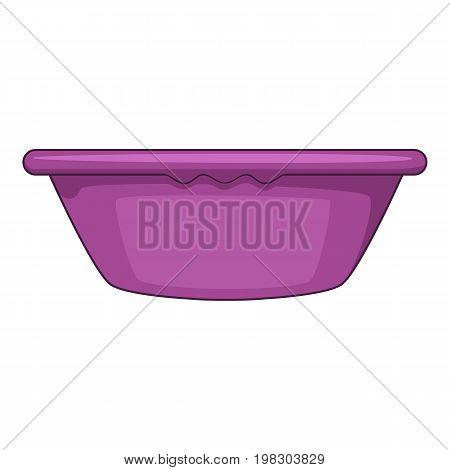Plastic basin icon. Cartoon illustration of plastic basin vector icon for web design