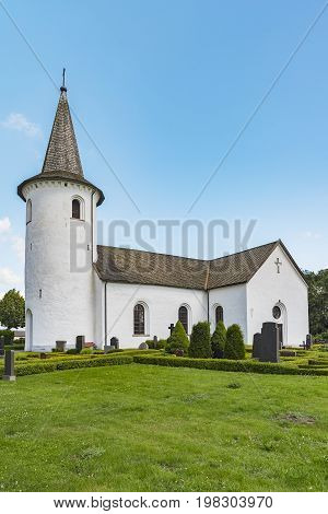 Bollerup Church is a medieval Lutheran church located southwest of Tomelilla in southern Sweden in the close vicinity of Bollerup Castle.