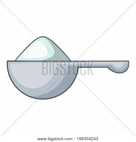 Spoon of washing powder icon. Cartoon illustration of spoon of washing powder vector icon for web design