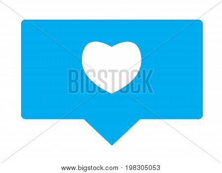 like sign. like icon on white background. flat style design. follower icon.