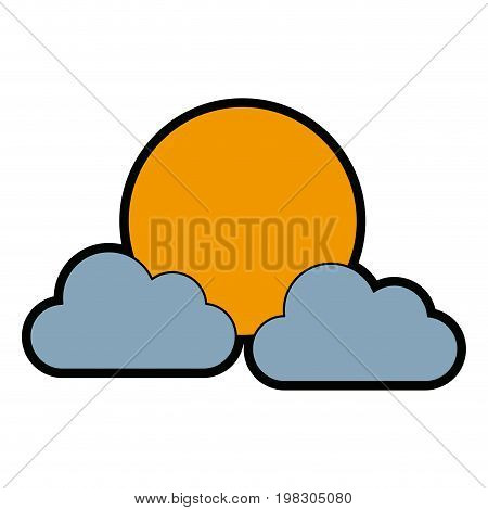 sun clouds weather forecast climate sky vector illustration