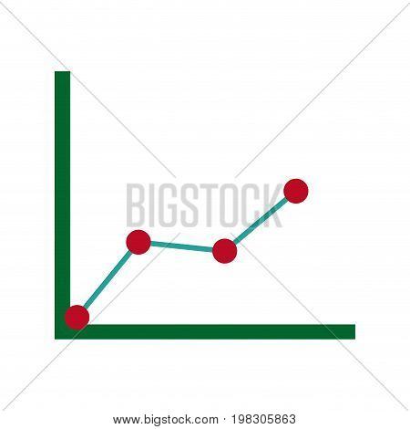 business graph with arrow abstract of financial stock data vector illustration