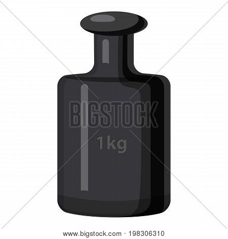 Weight 1 kg icon. Cartoon illustration of weight 1 kg vector icon for web design