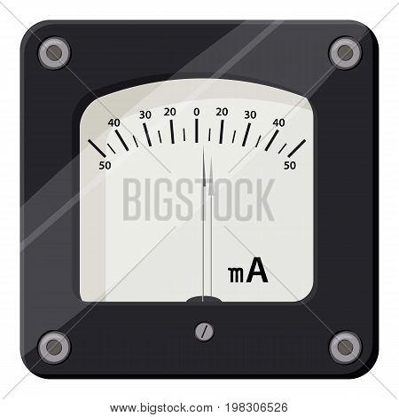 Ammeter icon. Cartoon illustration of ammeter vector icon for web design