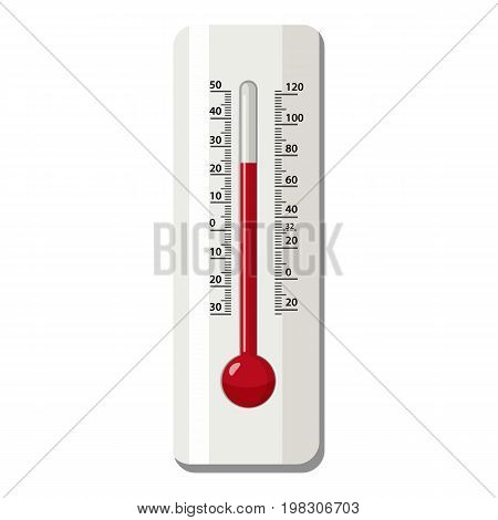 Outdoor thermometer icon. Cartoon illustration of outdoor thermometer vector icon for web design