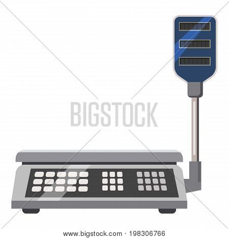 Electronic scales icon. Cartoon illustration of electronic scales vector icon for web design