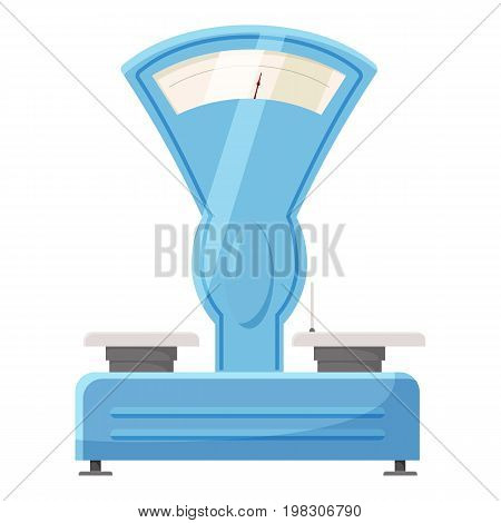 Old scales icon. Cartoon illustration of old scales vector icon for web design