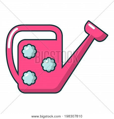 Watering can icon. Cartoon illustration of watering can vector icon for web design