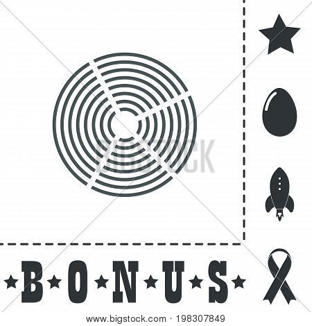 Crop Circle. Simple flat symbol icon on white background. Vector illustration pictogram and bonus icons
