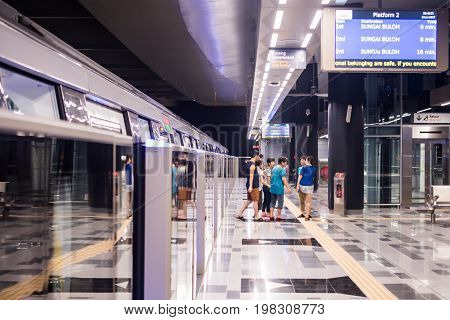 MALAYSIA - JULY 20,2017: View of electric train station in Malaysia.