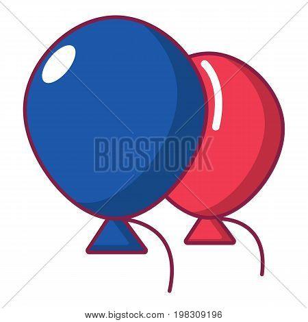 Wedding ballons icon. Cartoon illustration of wedding ballons vector icon for web design