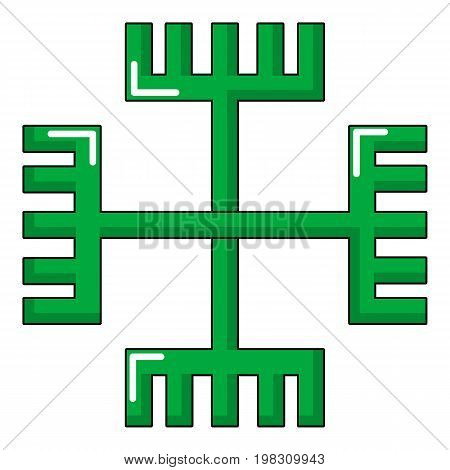 Pagan ancient symbol icon. Cartoon illustration of pagan ancient symbol vector icon for web design