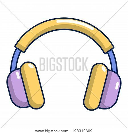 Headphones icon. Cartoon illustration of headphones vector icon for web design