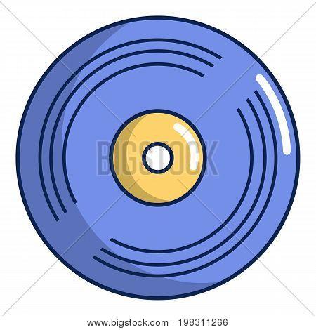 Vinyl record icon. Cartoon illustration of vinyl record vector icon for web design