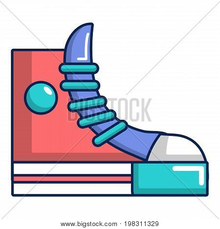Sneakers hipster shoes icon. Cartoon illustration of sneakers hipster shoes vector icon for web design