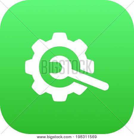 Vector Gear  Element In Trendy Style.  Isolated Repair Icon Symbol On Clean Background.