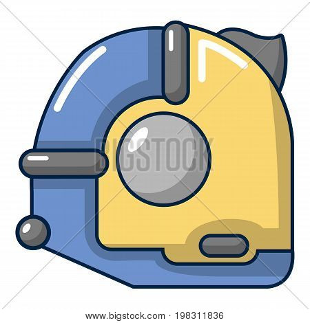 Tape measure icon. Cartoon illustration of tape measure vector icon for web design