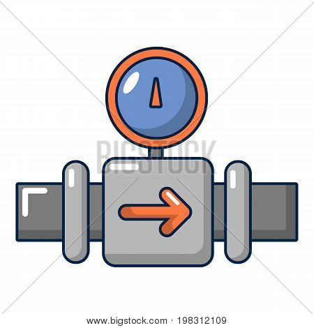 Water meter pipe icon. Cartoon illustration of water meter pipe vector icon for web design