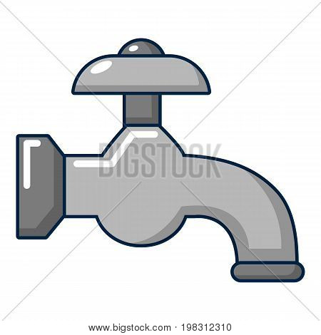 Water tap icon. Cartoon illustration of water tap vector icon for web design