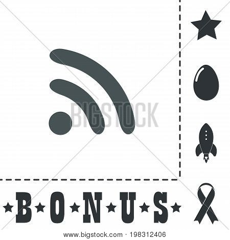 Podcast. Simple flat symbol icon on white background. Vector illustration pictogram and bonus icons