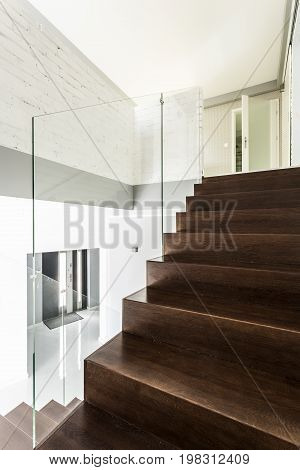 Staircase With Unusual Railing
