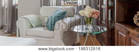 Cosy White Armchair