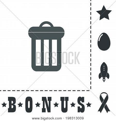 Urn. Simple flat symbol icon on white background. Vector illustration pictogram and bonus icons