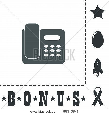Fax machine. Simple flat symbol icon on white background. Vector illustration pictogram and bonus icons
